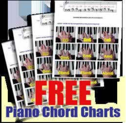 Learn piano with free piano chord charts