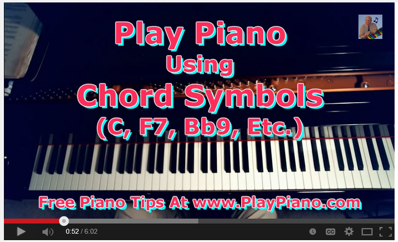 Chord Symbols How To Play Using A Fake Book Piano Lessons For Adults