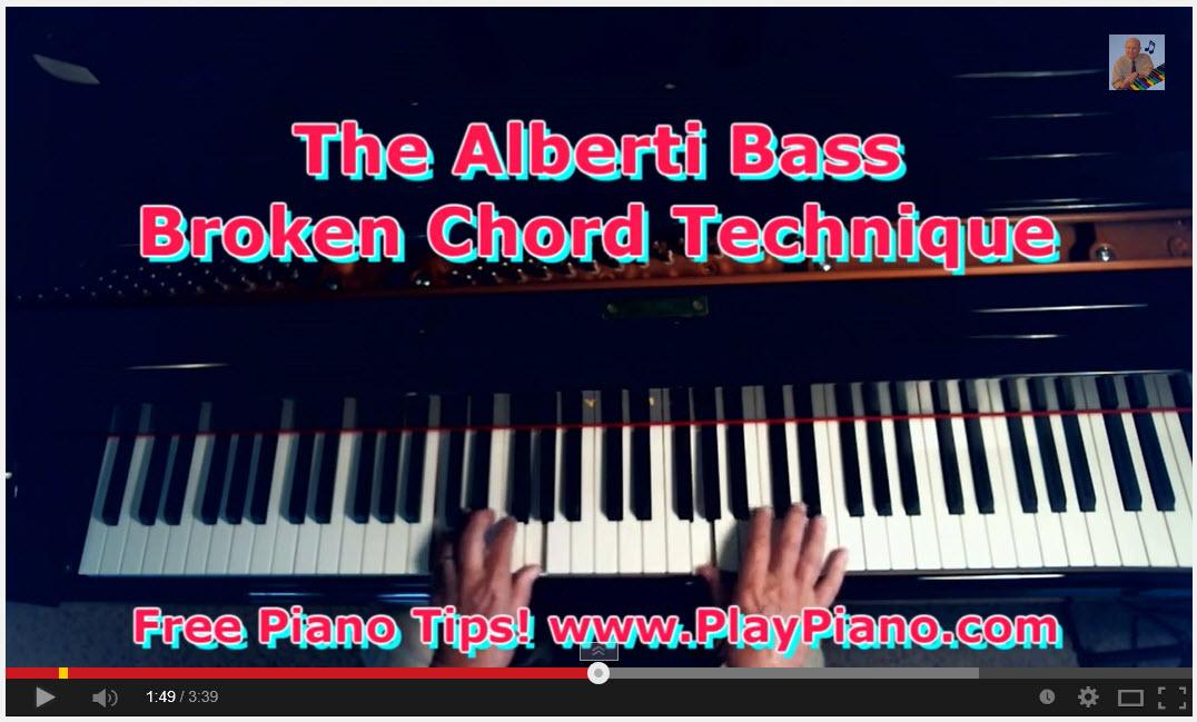 The Alberti Bass Technique for Piano