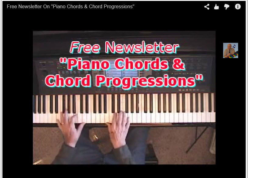 Free Newsletter On Piano Chords And Chord Progressions Piano