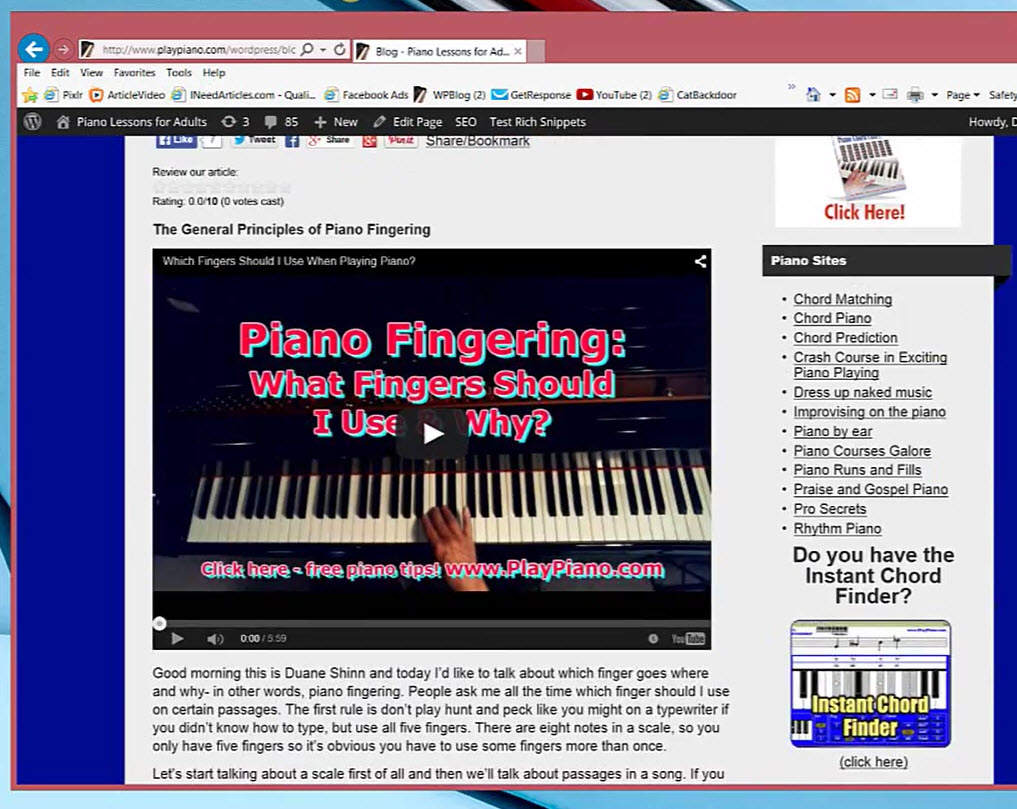 Free Piano Tips Blog - Tips, Tricks & Techniques Most Every Day
