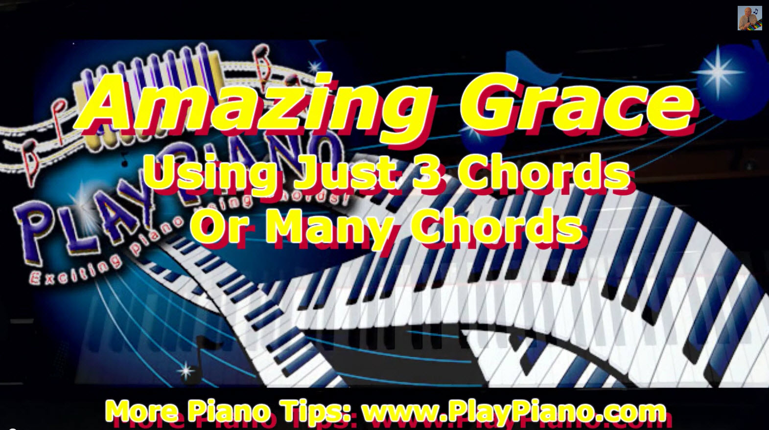 Playing Amazing Grace On The Piano Using Simple Chords