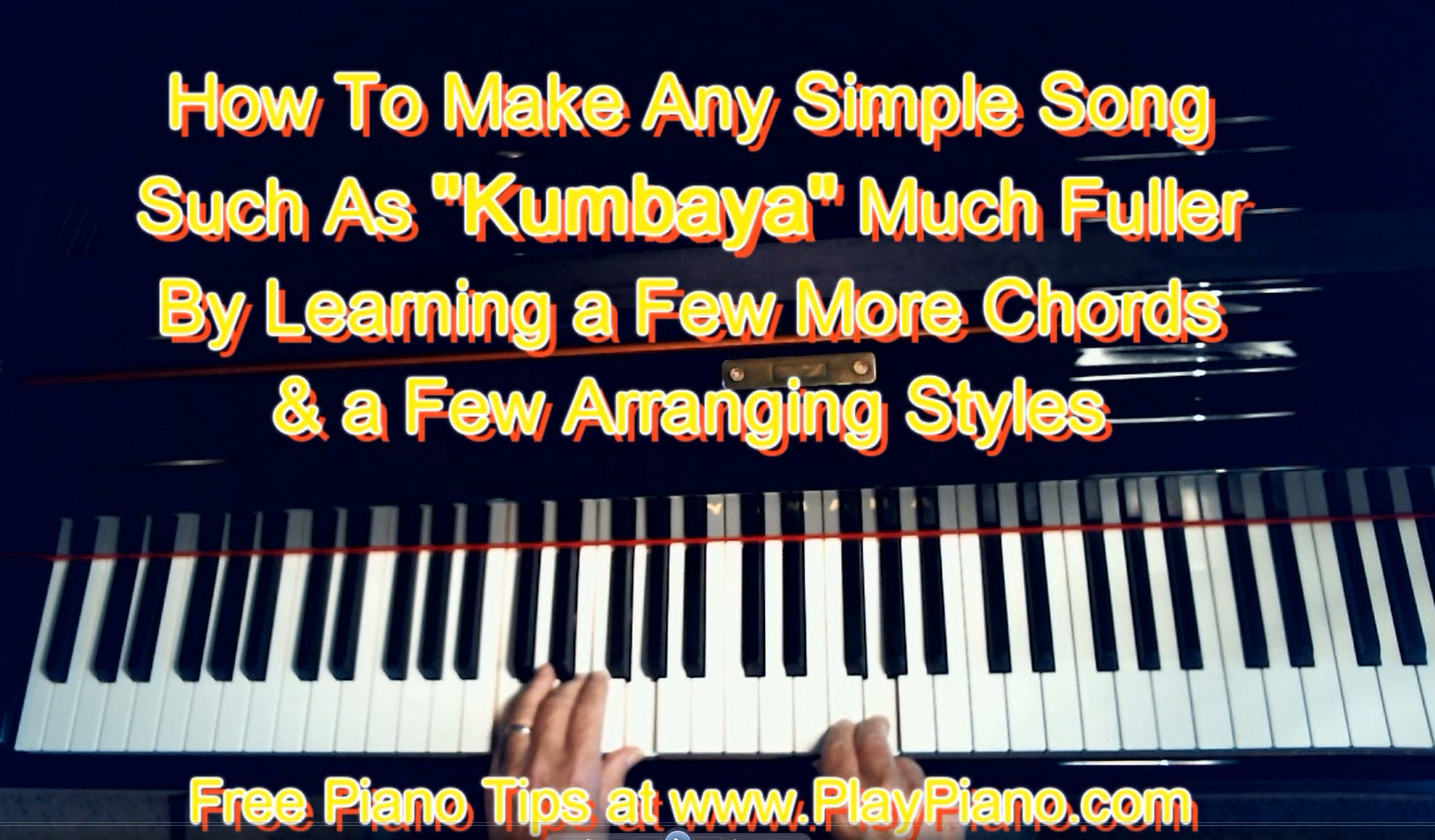 How To Play Kumbaya On Piano Using More Chords & More Styles | Piano ...