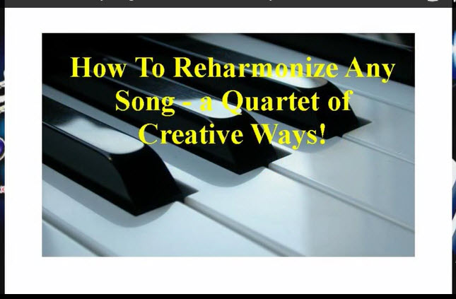 Chord Subs Song Reharmonization Techniques Piano Lessons For Adults