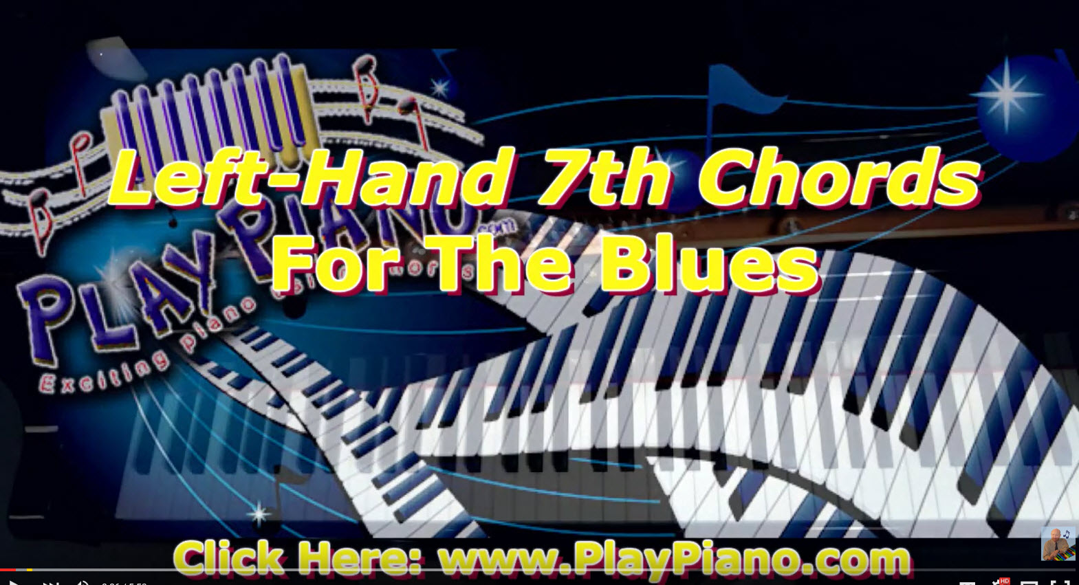 Left hand 7th chords when playing the blues piano lessons for adults left hand 7th chords when playing the blues hexwebz Image collections