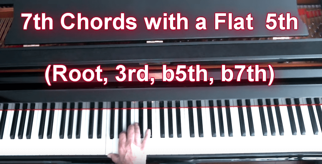 7th Chords With A Flat 5th C7 5 F7 5 G7 5 Etc Piano Lessons