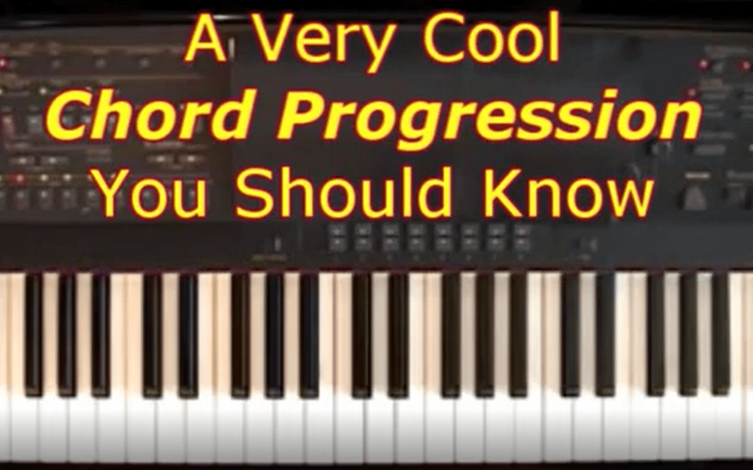 A Very Cool Chord Progression You Can Play... : Piano Lessons for Adults